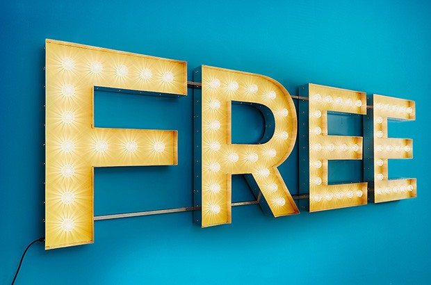 A sign with the word 'free'