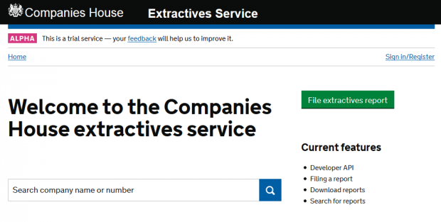 extractives alpha homepage