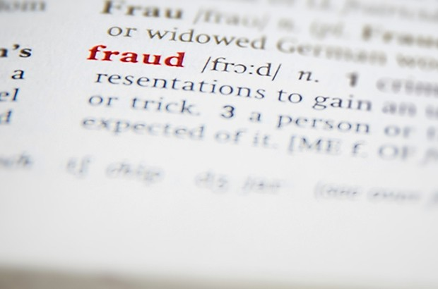 Dictionary entry of the word fraud.