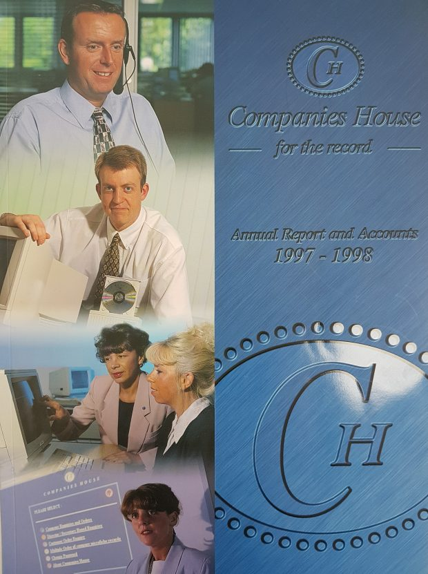 Our annual report from 97 to 98