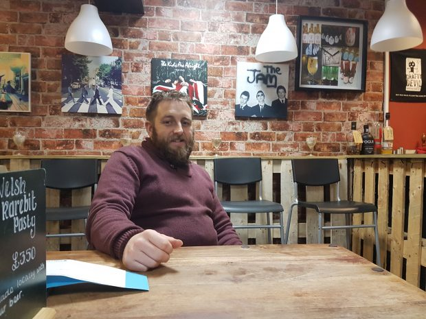 Crafty Devil co-owner Rhys Watkins in his shop