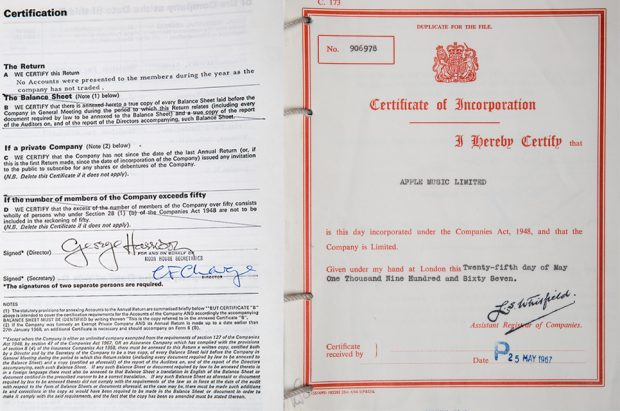 An image of the certificate of incorporation