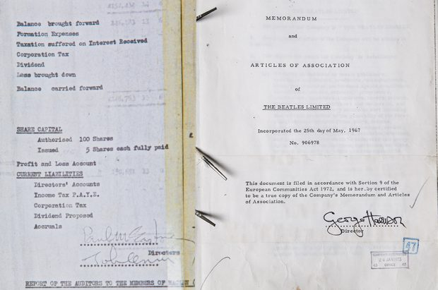 Some images of documents we hold on the Beatles