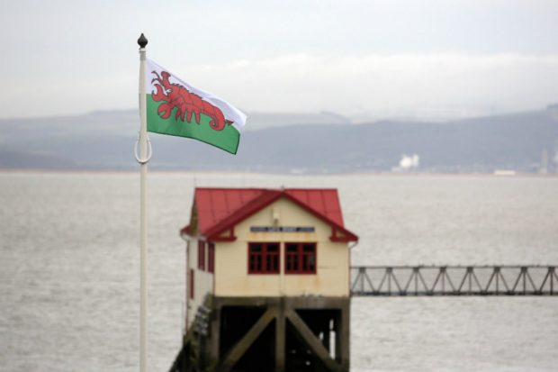 One of the flags featured at Mumbles Pier, Swansea
