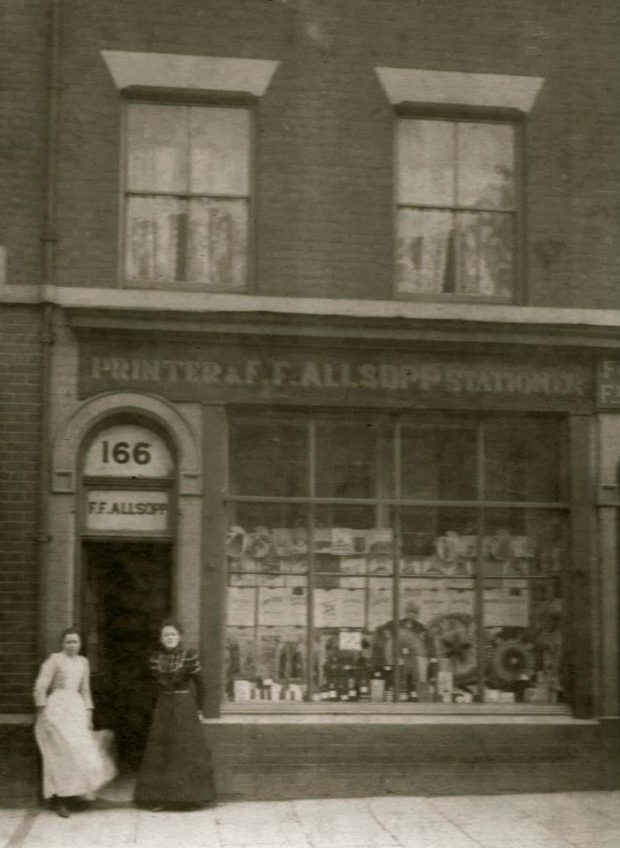 A picture of Allsopp Bookbinders in 1901