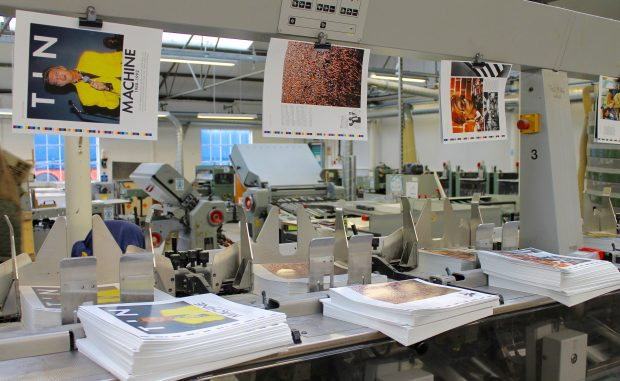An image of the inside of the modern day Allsopp Bookbinders