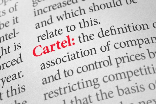 An image of a dictionary definition of 'Cartel''