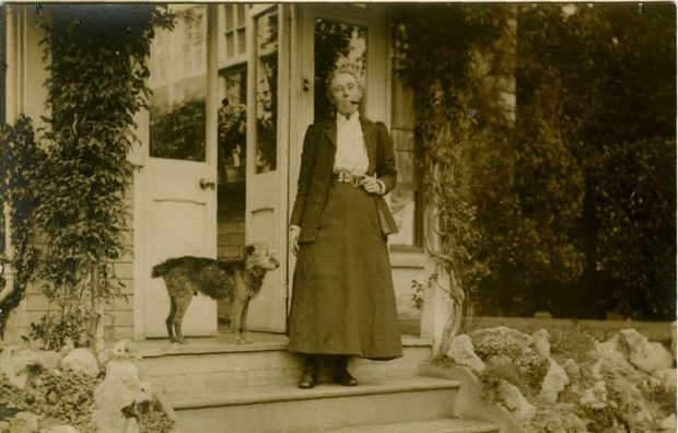 Image of Amy Dillwyn outside her home