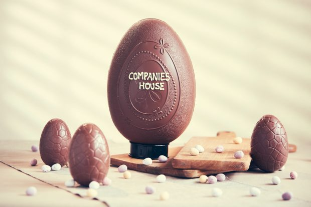 Easter egg with the words Companies House in icing