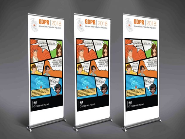 Our 3 different GDPR campaign banners.