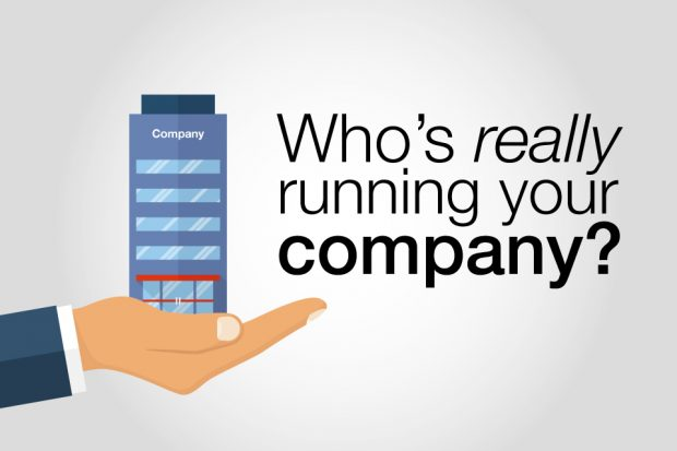 Who's really running your company title