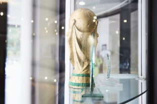 World Cup trophy in the Companies House awards cabinet.
