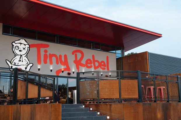 Tiny Rebel brewery bar.