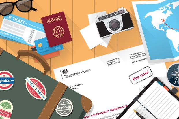 Holiday essentials and a Companies House letter.