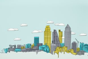 Graphic of a city skyline.