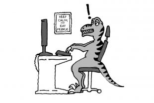 Jurassic Park UX fails cartoon.