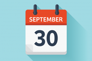 Calendar with 30 September.