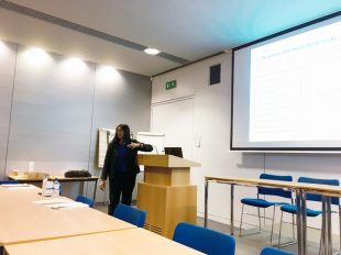 Kavita presenting to the group.