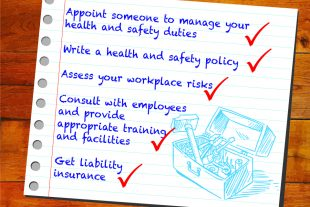 Checklist of health and safety tips.