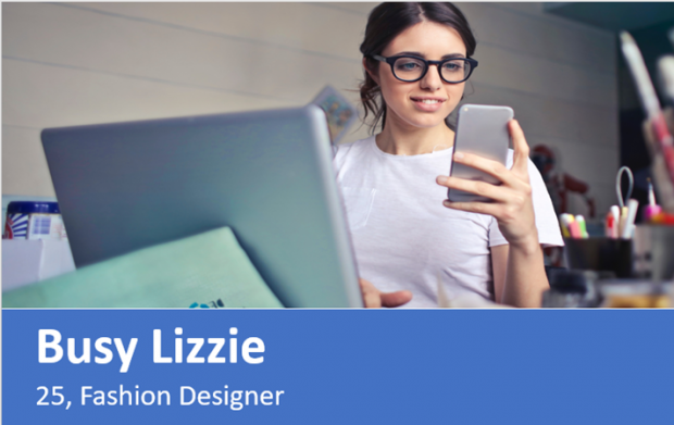 Busy Lizzy user persona design.