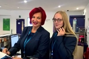 Jane and Shelley from the Companies House reception team.