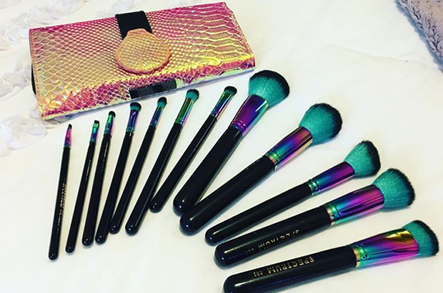 Makeup brushes laid out on a bed  The rise of social media entrepreneurs Makeup brushes 620x410