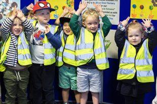 Children from Blue Door Nursery visit Companies House.