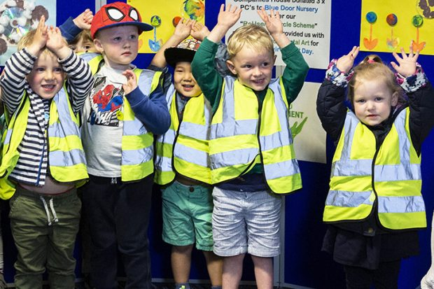 Children from Blue Door Nursery visit Companies House.