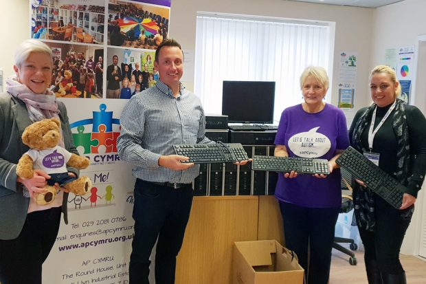 Companies House colleagues donating computers to AP Cymru.