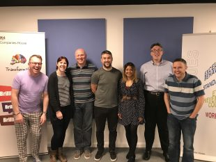 A group photo of the Companies House user research team.