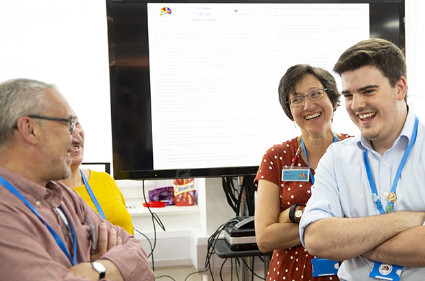 Companies House colleagues at a culture change meeting