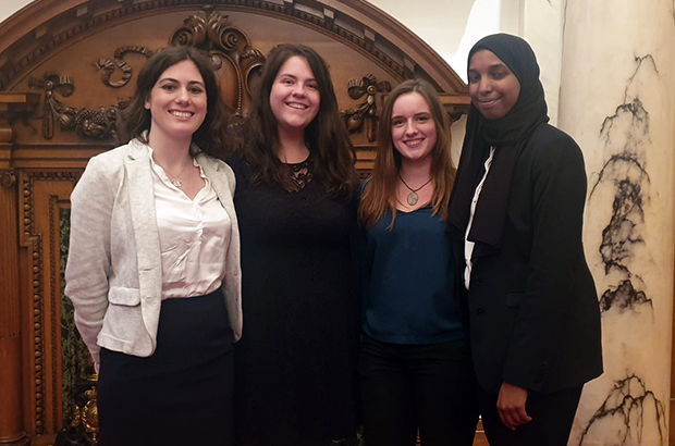 Imogen Percival with other GCS interns