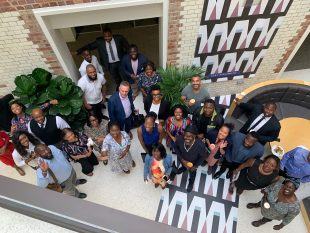Group photo of the BAME pre accelerator reunion event.