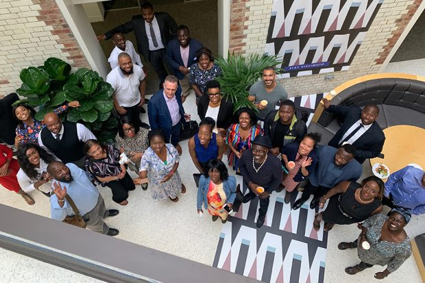 Group photo of BAME pre accelerator reunion event.