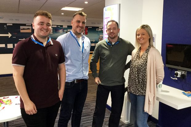 Josh, Andy, James and Nicola from our mentoring network.
